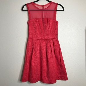 Red Rose Patterned Dress